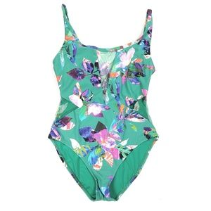 Floral Mesh One Piece Swimsuit